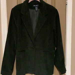 Denim & Co. GREEN JACKET SIZE XL